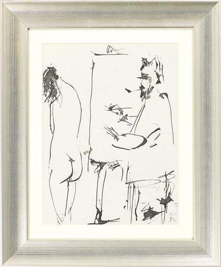 """Pablo Picasso: Bild """"Ohne Titel"""" (1954), gerahmt"""