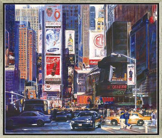 """Namazbek Chekirov: Bild """"Times Square"""", gerahmt"""