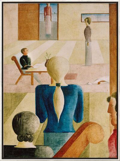 """Oskar Schlemmer: Bild """"Frauenschule"""" (1930), gerahmt"""