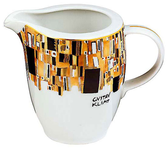 """Gustav Klimt: Milchkännchen """"Stoclet-Fries"""", Porzellan mit Golddekor"""