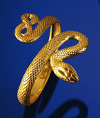 "Snake Jewelry ""Apophis-Armreif"", Gold Plated 925 Sterling Silver"