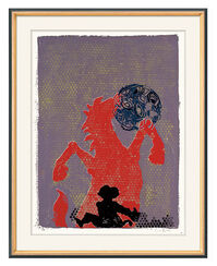 """Bild """"Ohne Titel (Pferd, Affe, Augenkugel)"""" (2006)"""