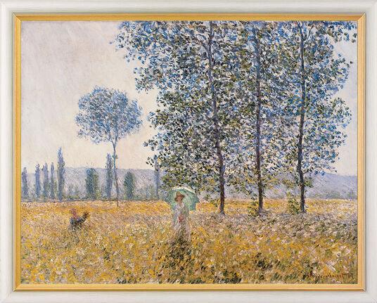 """Claude Monet: Art print """"Fields in Spring"""" (1887), framed"""