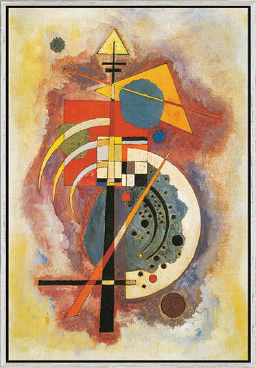 """Wassily Kandinsky: Picture """"Hommage à Grohmann"""" (1926) in studio framing"""