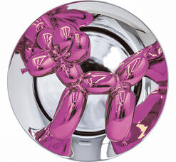 "Skulptur ""Magenta Balloon Dog"" (2015)"