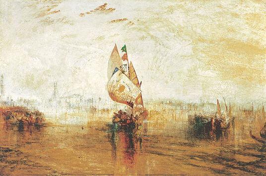 "William Turner: Painting ""The Sun of Venice"" (1843)"