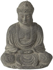 "Garden Sculpture ""Sitting Buddha"", Artificial Stone"
