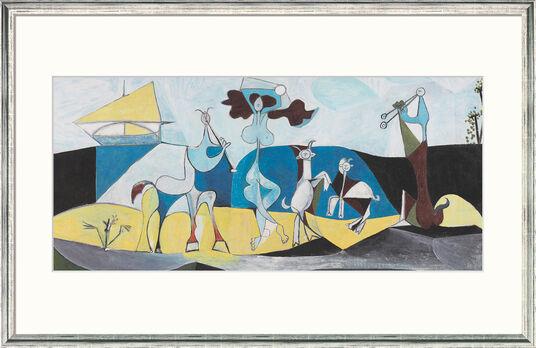 "Pablo Picasso: Bild ""Die Freude des Lebens"" (1946), gerahmt"