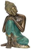 "Skulptur ""Ruhender Buddha"", Bronze Antikfinish"