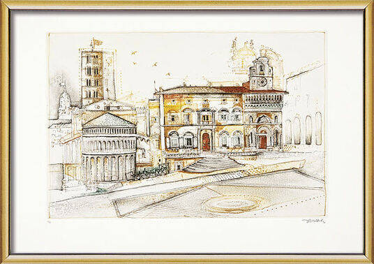 "Simon Dittrich: Bild ""Arezzo"" (1998), gerahmt"