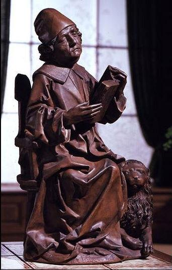 """Tilman Riemenschneider: Sculpture """"Evangelist Mark"""", Artificial casting"""