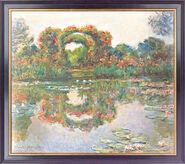"""Bild """"Blühende Rundbögen"""" (1913), gerahmt"""