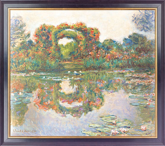 "Claude Monet: Painting ""Blooming arches"" (1913), framed"