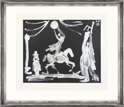 "Bild ""The Circus: Horsewoman, Clown and Pierrot"" (1968)"