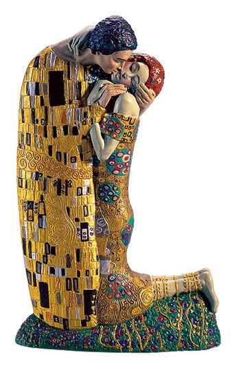 "Ed van Rosmalen: Sculpture ""The Kiss"" (19 cm) - by Gustav Klimt"