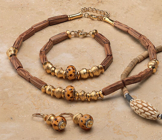 "Petra Waszak: Jewellery Set ""Cheetah"""