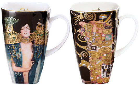 "Gustav Klimt: Coffee set ""Judith and fulfillment"""