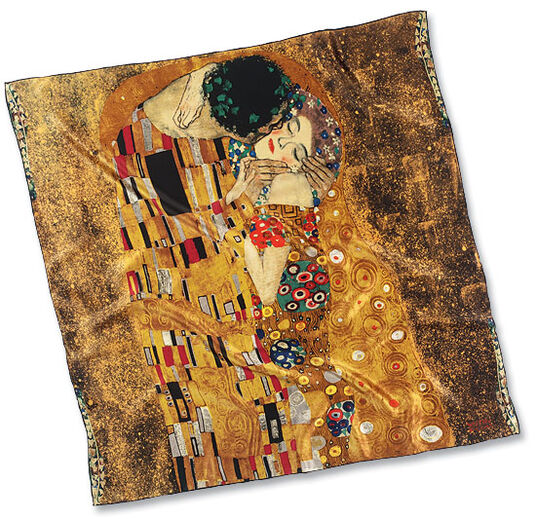 "Gustav Klimt: Silk scarf ""The Kiss"""