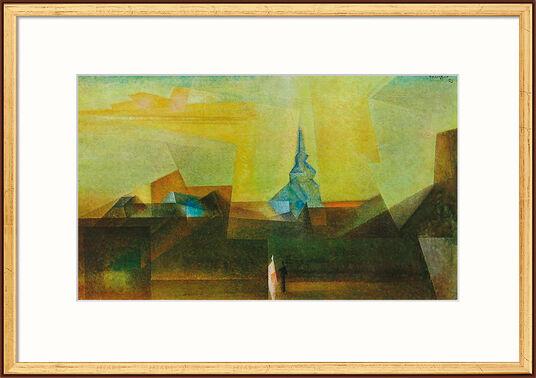 "Lyonel Feininger: Bild ""Nermsdorf (I)"" (1925), gerahmt"