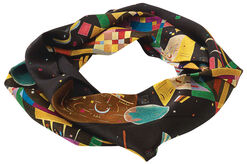 "Loop Shawl ""Composition X"" - after Wassily Kandinsky"