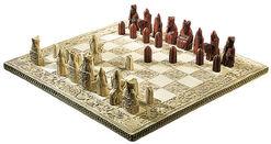 Lewis-Chess-Schachbrett (ohne Figuren), Kunstguss