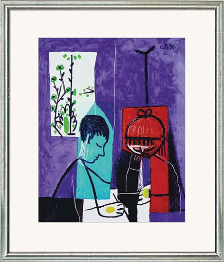 """Pablo Picasso: Bild """"Zeichnende Kinder"""", gerahmt"""