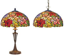 "Tiffany Lamp Set ""Claire"""