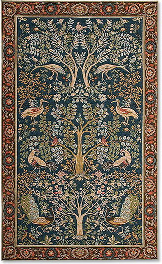 "Tapestry ""Trees and Blue Birds"" - after William Morris"