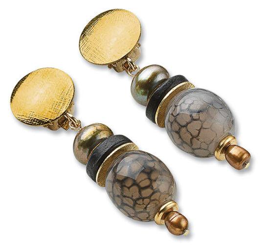 "Petra Waszak: Earrings 'Pearls of Art Nouveau"""