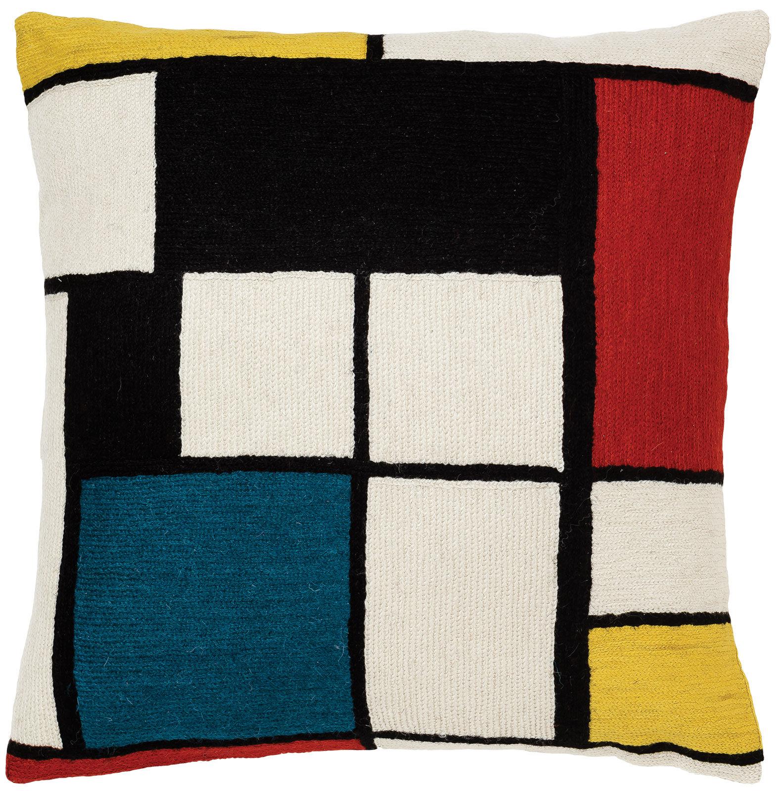 piet mondrian kissenbezug komposition in rot blau und gelb 1930 ars mundi. Black Bedroom Furniture Sets. Home Design Ideas