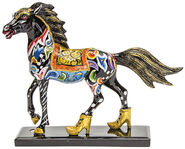 "Horse Sculpture ""Black Beauty"", Hand Painted"