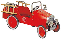 "Nostalgic Baghera pedal car ""Fire Brigade"" (for 3-5 year old children)"