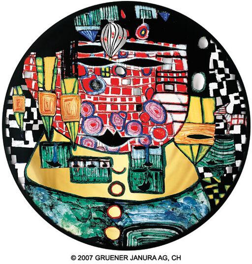 """Friedensreich Hundertwasser: (928B) Wandteller """"Die Antipoden"""""""