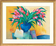 "Bild ""Tulipes au vase bleu"" (1997), gerahmt"