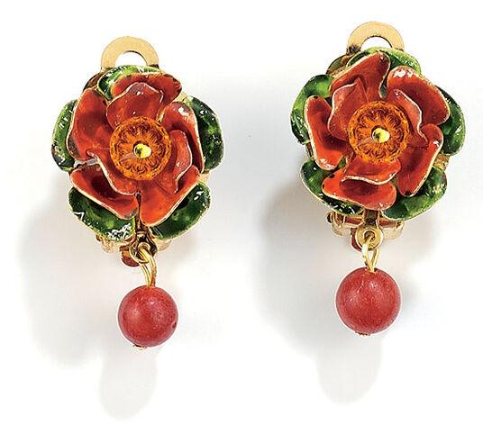 """Petra Waszak: Ear Clips """"Heart of Roses"""""""