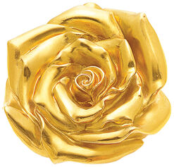 "Sculpture ""Rose"" (2012), Plated with Yellow Gold"