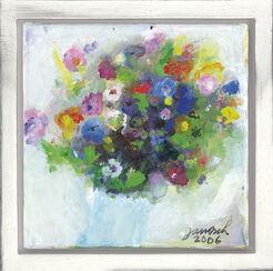 """Bild """"Blumenstrauß mit blauer Vase"""" (2006) (Unikat)"""