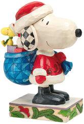 "Skulptur ""Here comes Snoopy Claus"", Kunstguss"