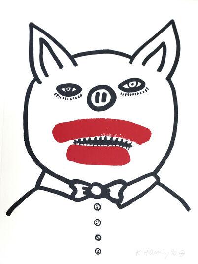 "Keith Haring: Bild ""The story of Red and Blue, Blatt 3"" (1989/90)"