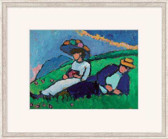 """Gabriele Münter: Bild """"Jawlensky und Werefkin"""" (1909), gerahmt"""