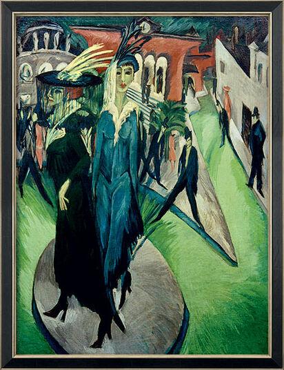"Ernst Ludwig Kirchner: Bild ""Potsdamer Platz"" (1914), gerahmt"
