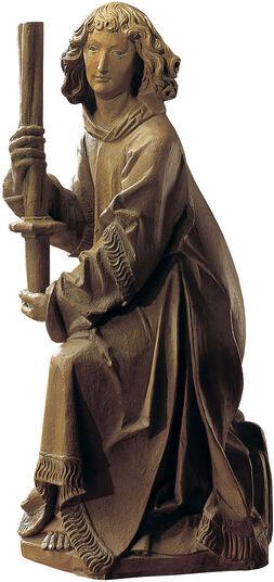 "Tilman Riemenschneider: Skulptur ""Wartburg-Engel"", Kunstguss Holzfinish"