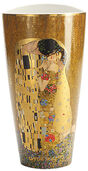 "Porcelain Vase ""The Kiss"" with gold elements"