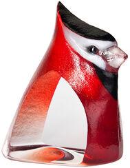 """Glasobjekt """"Birdie"""", rote Version"""