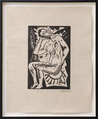 """Bild """"Sitzender Akt"""" (1918)"""