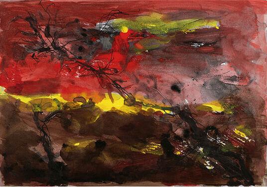 """Armin Mueller-Stahl: Bild """"Baumlandschaft II"""" (2009), ungerahmt"""