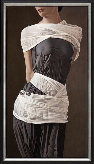"""Willi Kissmer: Bild """"In grau und weiß"""" (2012) (Original / Unikat), gerahmt"""