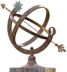 """Sonnenuhr """"Sonne & Mond"""", Bronze"""