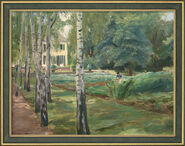 """Bild """"Die Birkenallee im Wannseegarten nach Westen"""" (1918), gerahmt"""