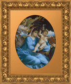Painting 'Madonna and Child with an Angel', around 1528-30
